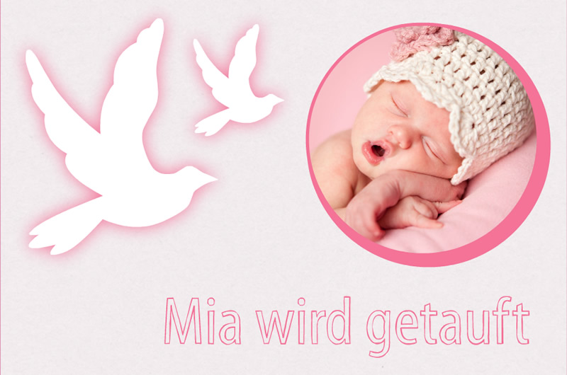 Favoloso Crea biglietti da battesimo con foto del tuo bebè MN41