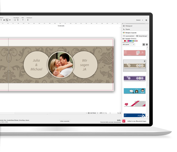 Crea i biglietti save the date per il tuo matrimonio for Software gratuito per il layout del garage